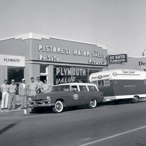 Plymouth Dealership Wagon And Their Trailer