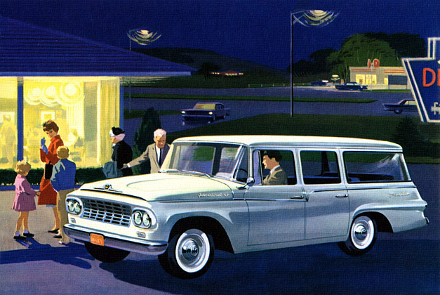 1960 INTERNATIONAL Delivery Work Truck - Travelall Station Wagon ...